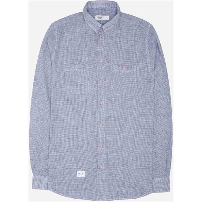 košile REELL - Structure Shirt Dark Blue (DARK BLUE)