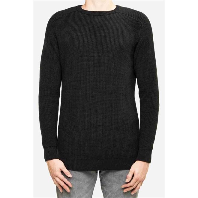 svetr REELL - Knitted Crewneck Black (BLACK)