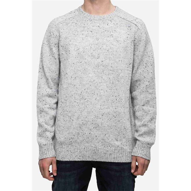 svetr REELL - Knitted Speckle Crewneck Grey Grey (Grey )