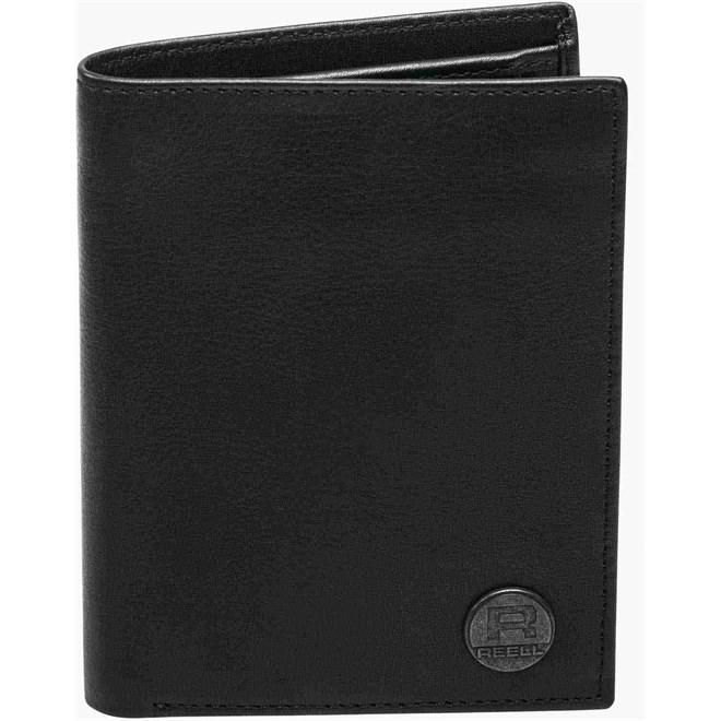 peněženka REELL - Canvas Leather Wallet Black (BLACK)
