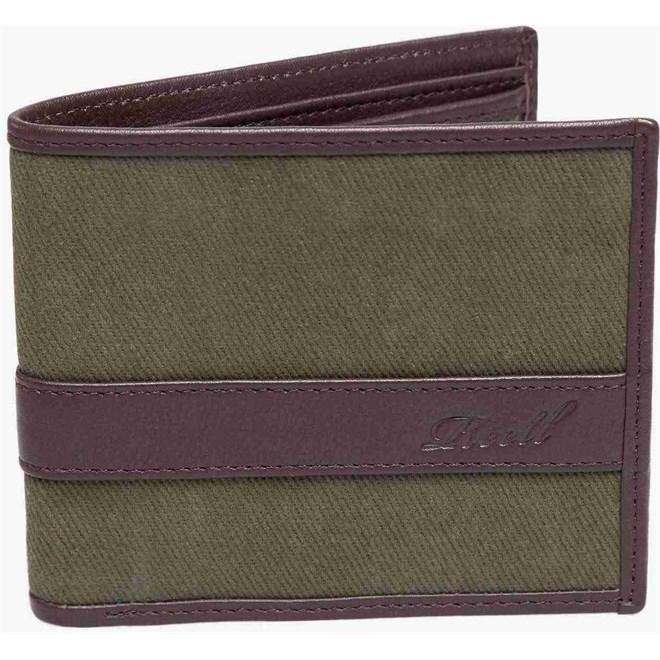 peněženka REELL - Canvas Leather Wallet Olive (OLIVE)