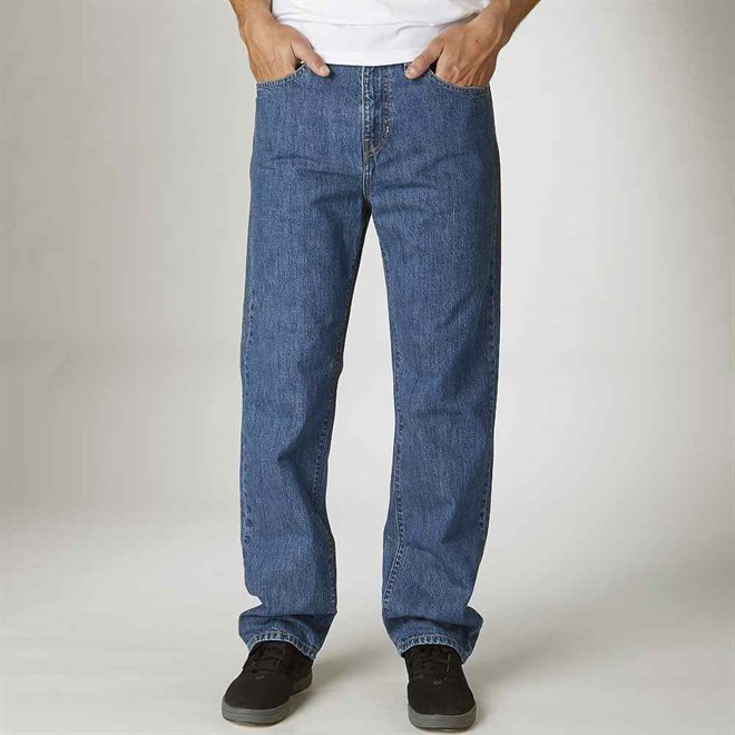 kalhoty FOX - GarageJean Medium Stonewash (580)