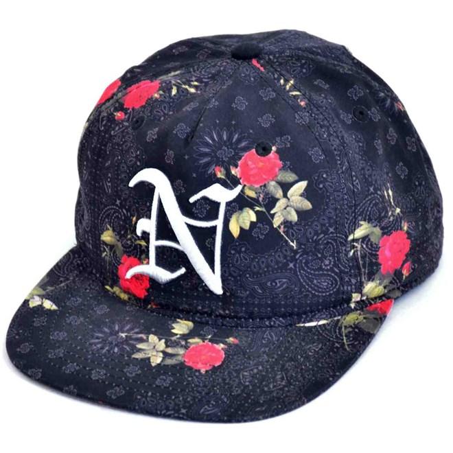 kšiltovka NEFF - Snoop Flower Allover N Logo Sb (BLCK)