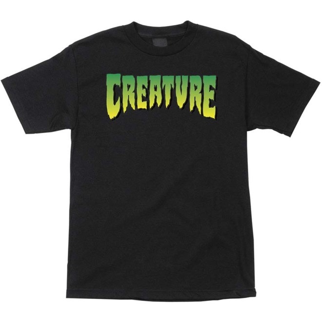triko CREATURE - Logo Regular T-Shirt Black (7436)