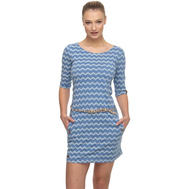 šaty RAGWEAR - Tanya Zig Zag Blue (BLUE)