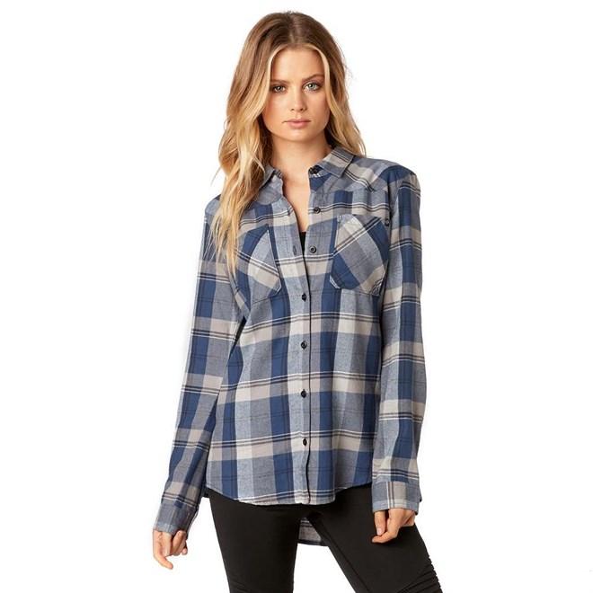 košile FOX - Flown Flannel Dusty Blue (157)