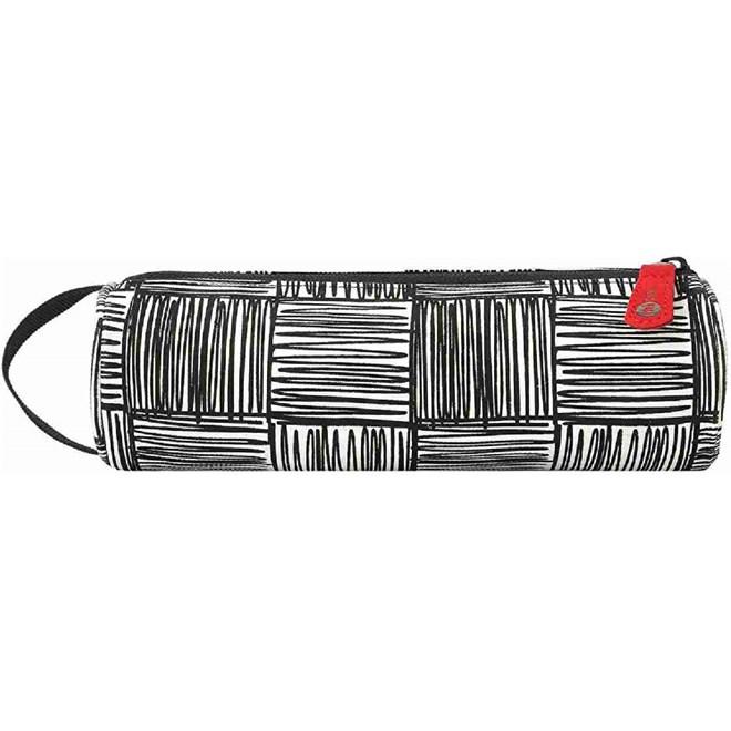 penál MI-PAC - Pencil Case Scribble Check Monochrome/Red (259)