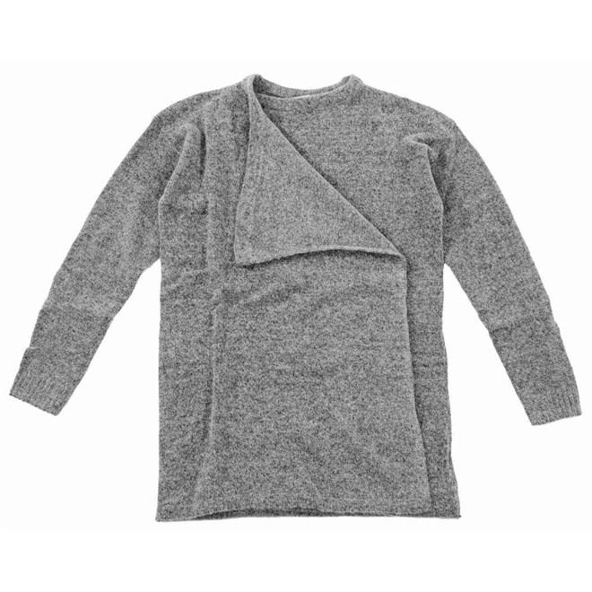 svetr ICHI - Knitted cardigan Grey Melange (10020)