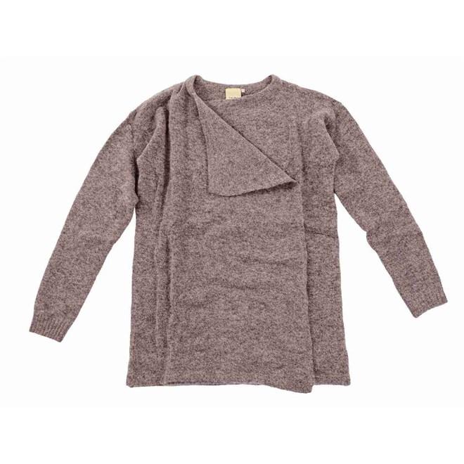 svetr ICHI - Knitted cardigan Antler (12277)