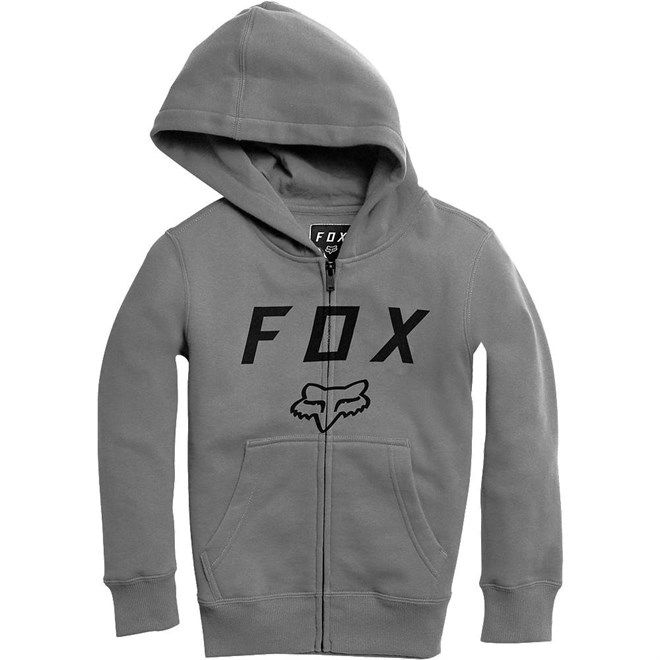 mikina FOX - Youth Legacy Moth Zip Fleece Heather Graphic (185)