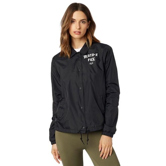bunda FOX - Pit Stop Coaches Jacket Black (001)