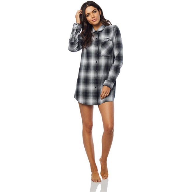košile FOX - Moto X Long Flannel Blk/Wht (018)