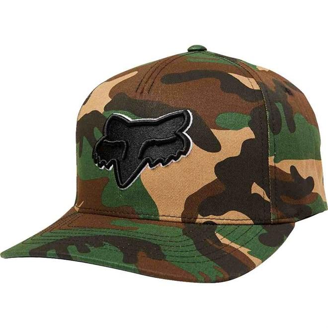 kšiltovka FOX - Epicycle Flexfit Hat Green Camo (031)