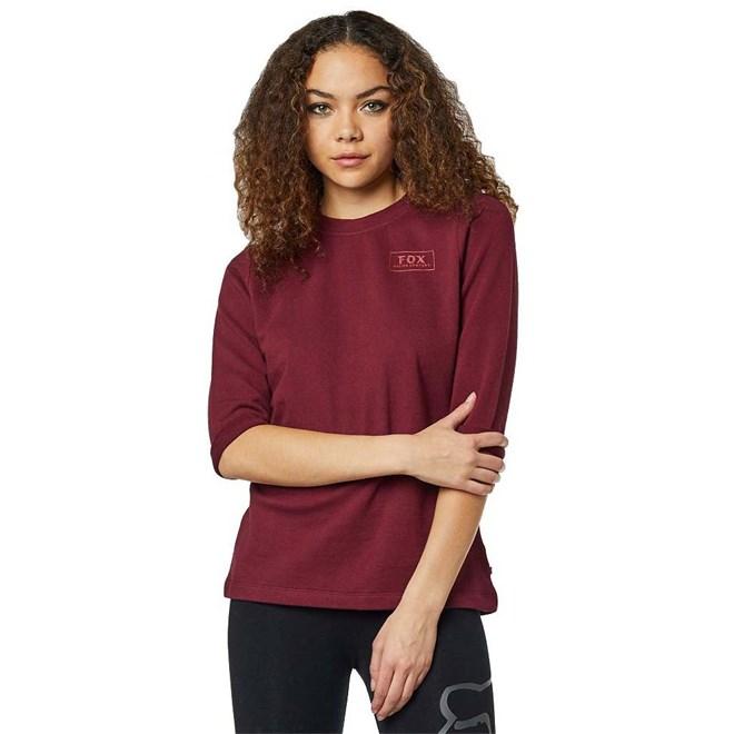 mikina FOX - Heater 3/4 Crew Fleece Cranberry (527)