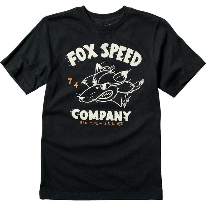 koszulka FOX - Youth Bomber Ss Tee Black (001)