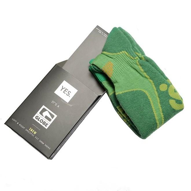 ponožky GLOBE - Yes/Globe Park Rat Sock  Lime (LIME)