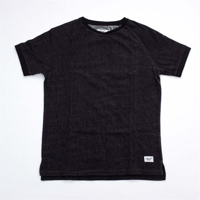 triko REELL - Raglan T-Shirt Black Melange (BLACK MELANGE)