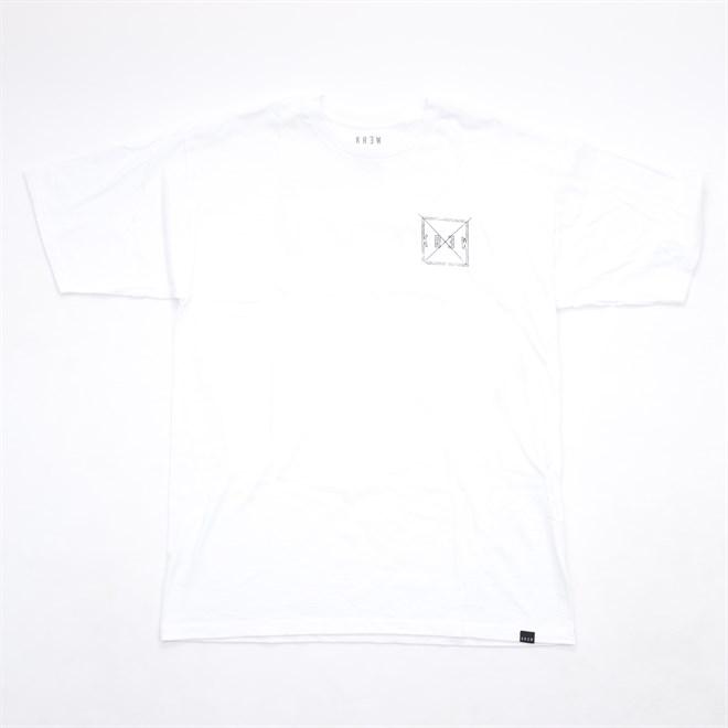 triko KREW - Square Distress White (100)