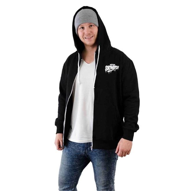 mikina SNOWBITCH - Tag Zip-Hoody Black (BLACK)
