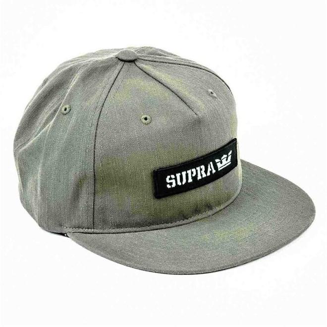 kšiltovka SUPRA - Mark Patch Snap Olive (303)