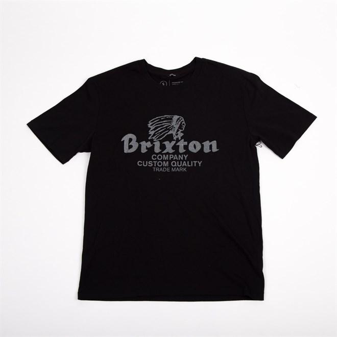 triko BRIXTON - Tanka Prem  Black/Grey (BKGRY)