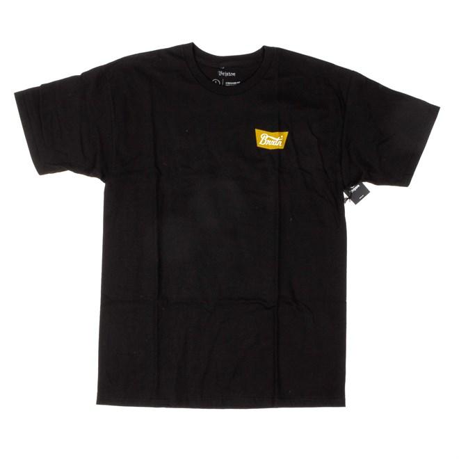 ea84949055fb tričko BRIXTON - Stith Black (BLACK)