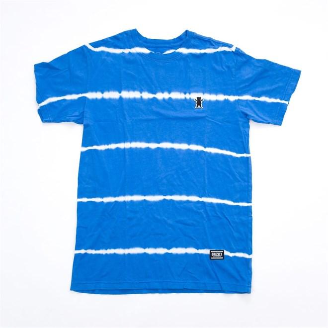 triko GRIZZLY - Earthquake Stripe Tie-Dye Blue (BLU)