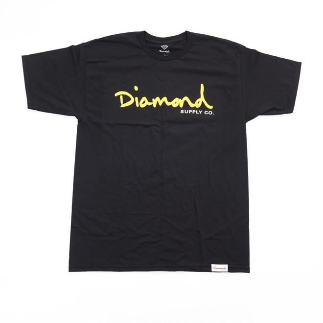 triko DIAMOND - Og Script H17 Tee Black (BLK)