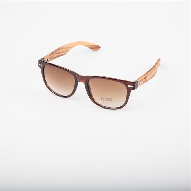 sluneční brýle SNOWBITCH - brown frame and brown lens zebra wooden (BROWN)