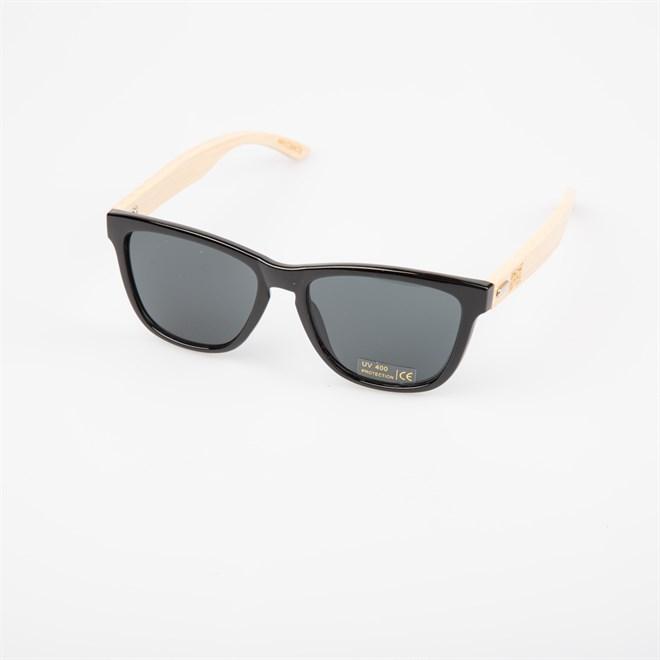 sluneční brýle SNOWBITCH - black frame and smoke lens natural bamboo (BLACK)