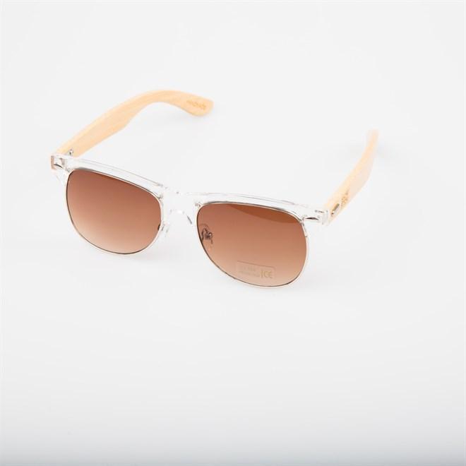 slnečné okuliare SNOWBITCH - white frame and brown lens natural bamboo (WHITE)