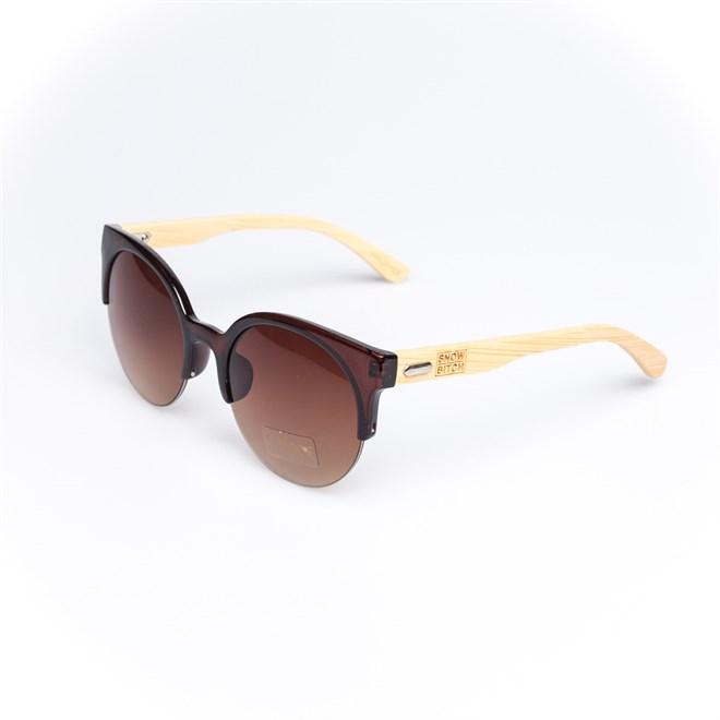 sluneční brýle SNOWBITCH - brown frame and brown lens natural bamboo (BROWN)