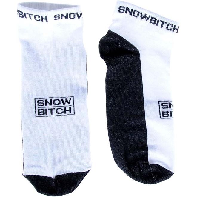 ponožky SNOWBITCH - Snowbitch Socks Ankle White Black (WHITE-BLACK)