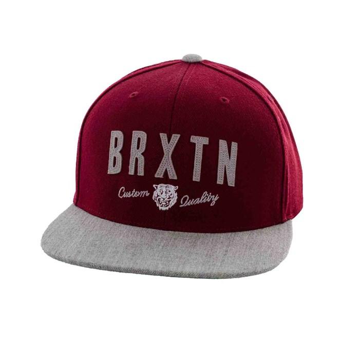 kšiltovka BRIXTON - Ronan Burgundy/Light Heather Grey (0755)