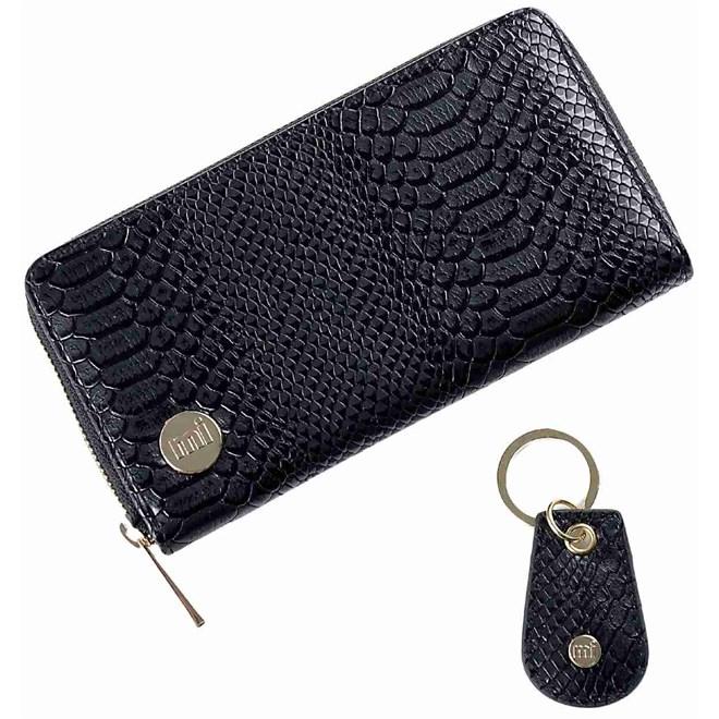 peněženka MI-PAC - Zip Purse & Key Python Black (002)