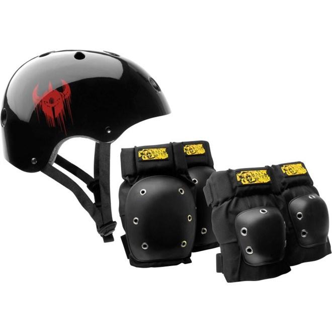 chrániče DARKSTAR - Helmet And Pad Pack Black (BLACK)