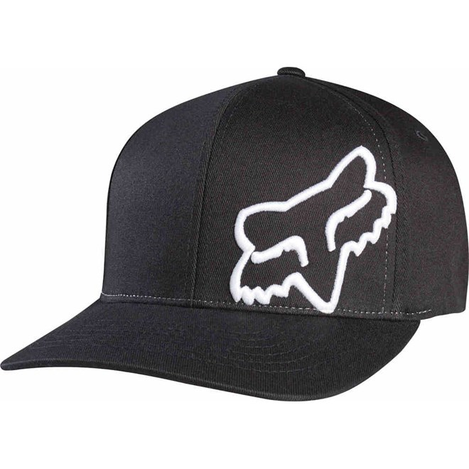 kšiltovka FOX - Flex 45 Flexfit Hat Blk/Wht (018)