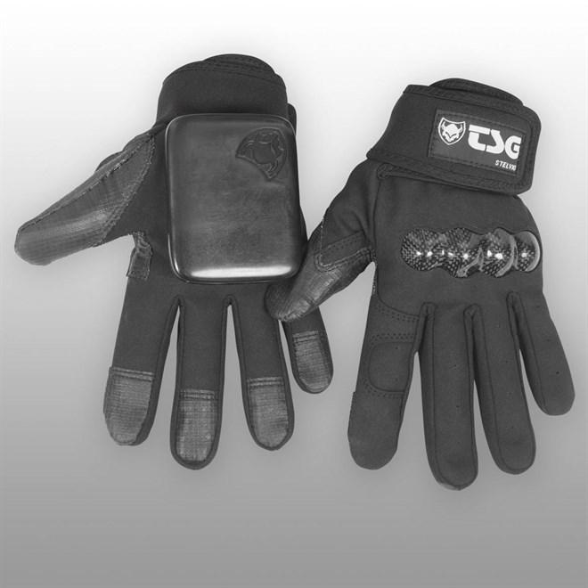 slide rukavice TSG TSG - stelvio DH sk8 glove black (102)