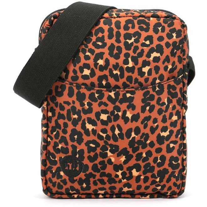 taška přes rameno MI-PAC - Flight Bag Nylon Leopard Black  (A02)