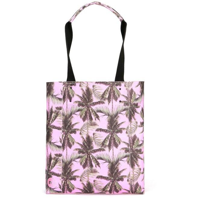 taška MI-PAC - Shopper North South Palm Trees-Pink  (S02)