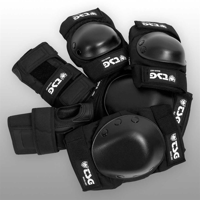 chrániče TSG - Basic-Set Black (102)