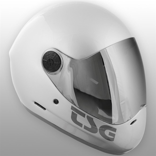 helma TSG - pass solid color (extra transparent visor) silver (334)