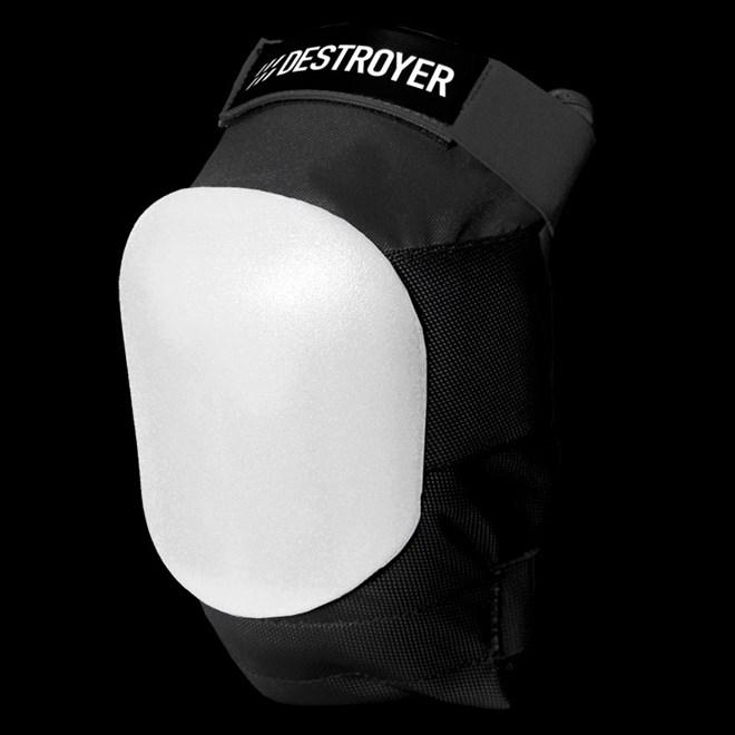 chránič DESTROYER - Am Knee Black/White (BWT)
