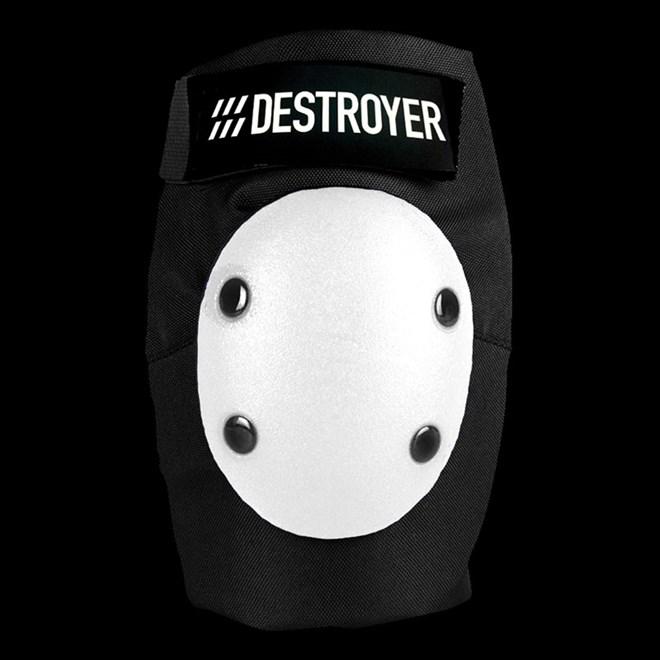 ochraniacze na łokcie DESTROYER - Am Elbow Black/White (BWT)