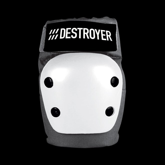 chránič kolen DESTROYER - Rec Elbow Grey/White (GRW)