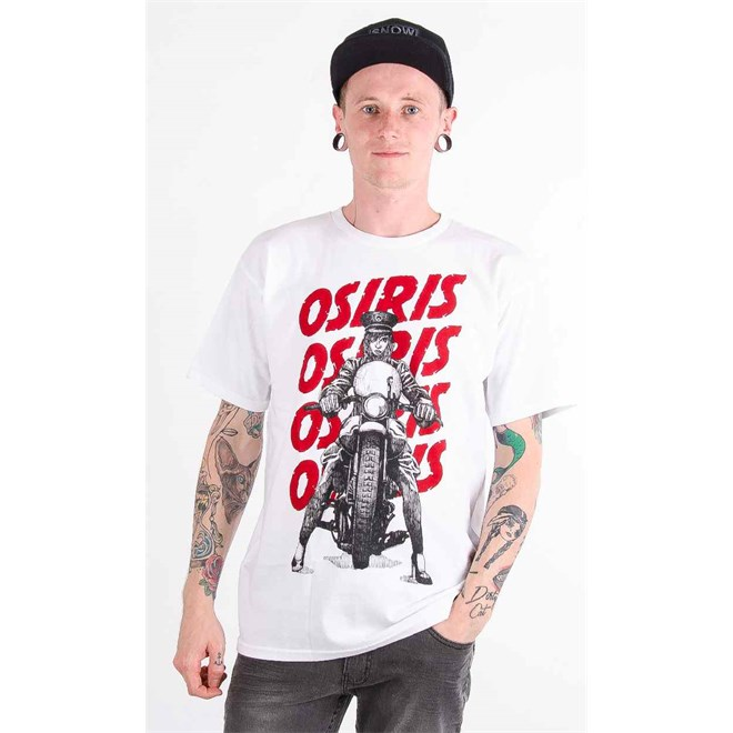 triko OSIRIS - Live Fast White/Red (325)