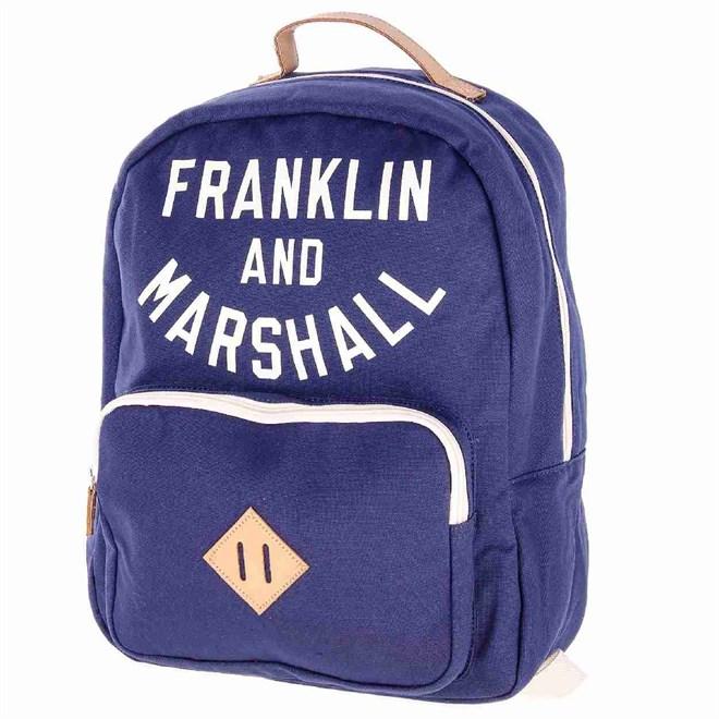 batoh FRANKLIN & MARSHALL - Varsity backpack - dark blue solid (25)