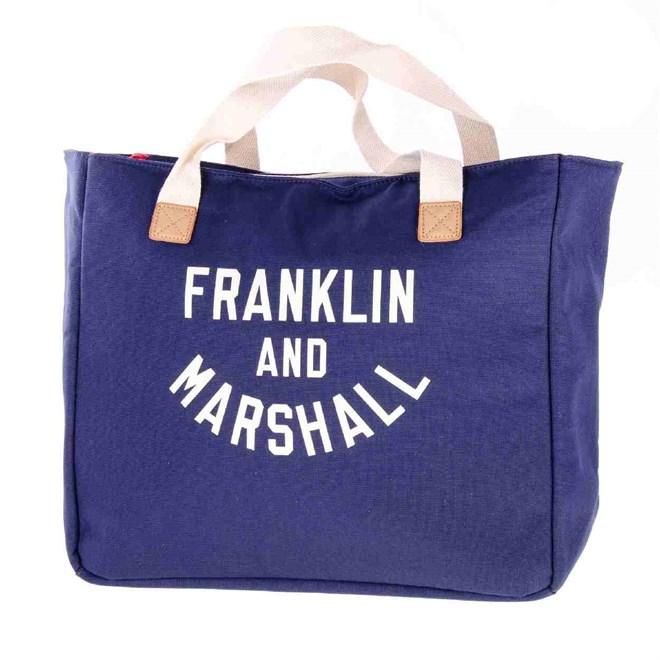 taška FRANKLIN & MARSHALL - Varsity shopper - dark blue solid (25)