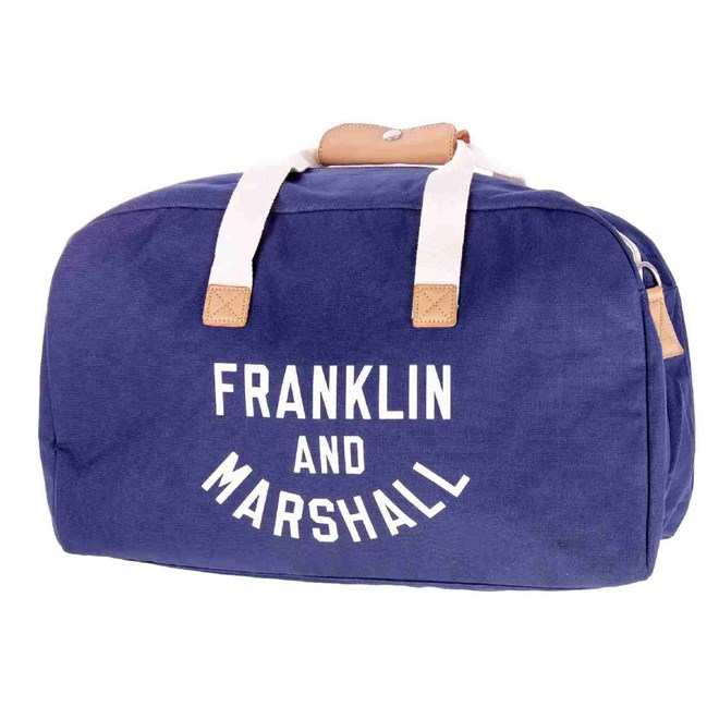 cestovná taška FRANKLIN & MARSHALL - Varsity weekender - dark blue solid (25)