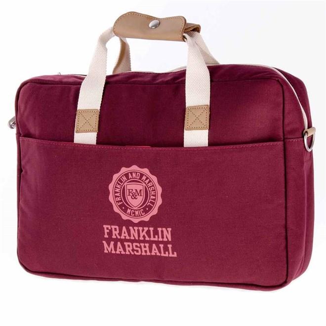 taška přes rameno FRANKLIN & MARSHALL - Classic reporter - bordeaux solid (30)